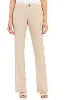 Calvin Klein Heathered Linen Suiting Modern Fit Straight-Leg Pants