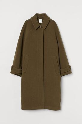 H&M Wool-blend Coat - Green