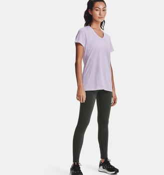 Under Armour Women's UA Tech Wordmark Jacquard Short Sleeve V-Neck