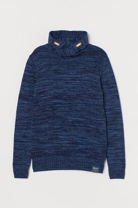 H&M Chimney-collar Sweater - Blue