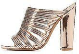 Charlotte Russe Metallic Strappy Mule Sandals