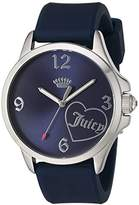 Juicy Couture Women's 'FERGIE' Quartz Stainless Steel and Silicone Casual Watch, Color:Blue (Model: 1901574)