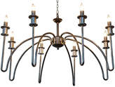 Noir Exton 8-Light Chandelier - Silver