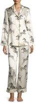 Olivia Von Halle Lila Zebra-Print Pajama Set