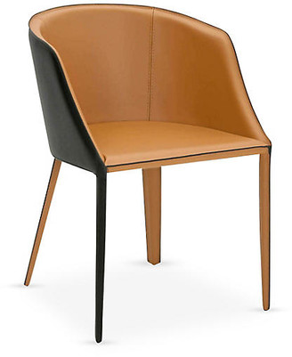 One Kings Lane Reeve Side Chair - Saddle Leather - saddle/black