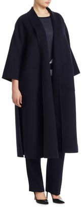 Marina Rinaldi, Plus Size Tema Long Wool Coat