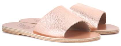 Ancient Greek Sandals Taygete metallic leather sandals