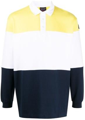 Paul & Shark Colour-Block Polo Shirt