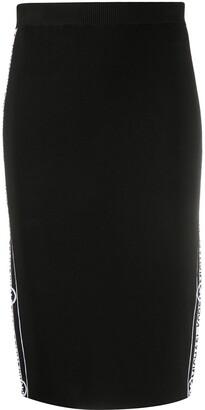 MICHAEL Michael Kors Logo-Stripe Pencil Skirt
