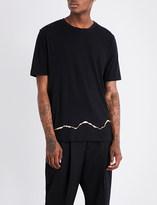 Haider Ackermann Gold Squiggle cotton T-shirt