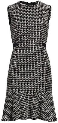 Akris Punto Sleeveless Lurex Tweed Dress