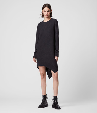 AllSaints Baya Merino Wool Dress