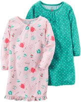 Carter's 2 Pack Nightgowns (Toddler/Kid) - Print - 12/14