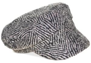 Nine West Thick Herringbone Wide-Brim Newsboy Hat