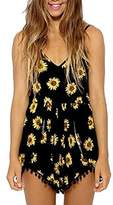 Moxeay® Sexy Women V-neck Straps Sun Flower Print Jumpsuit (Asia S/ US 4, )