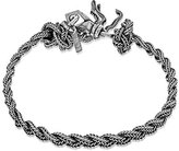 Emanuele Bicocchi Unisex 925 Sterling Silver Braided Rope-Textured Bracelet of Length 20cm (Medium)