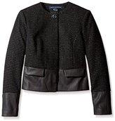 French Connection Women's Cosmic Tweed Blazer