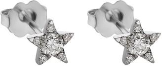 Maria Tash 18kt White Gold Diamond Star Stud Earring