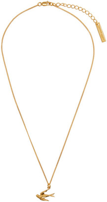 McQ Gold Swallows Necklace