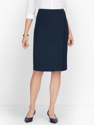 Talbots Stretch Crepe Pencil Skirt