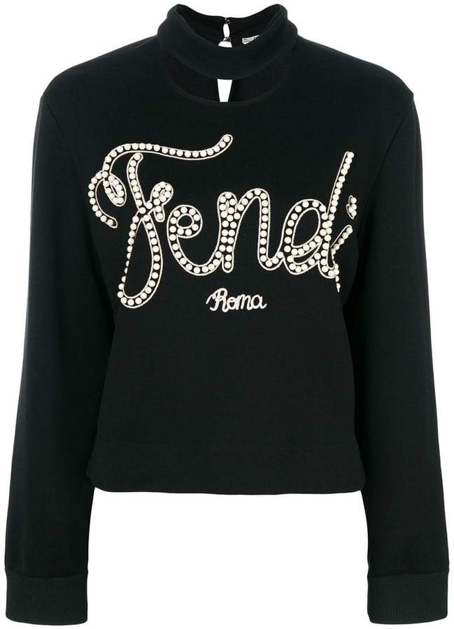 Fendi logo embroidered sweatshirt