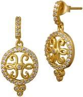 Freida Rothman Open Filigree Drop Earrings