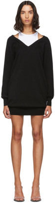 Alexander Wang Black and White Bi-Layer Sweater Dress