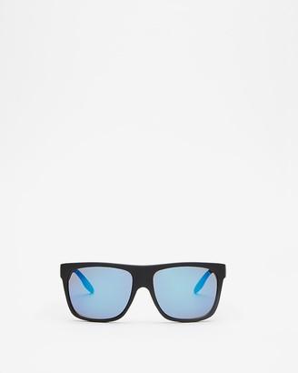 Express Matte Rubber Square Sunglasses