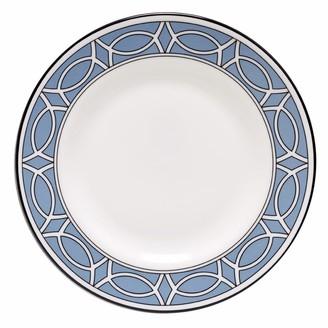 O.W. London Loop Cornflower Blue & White Teaplate Outer Design