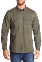 Wesc Olaf Cotton Button-Down Shirt