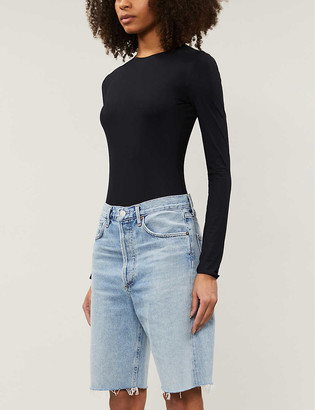 AGOLDE 90s Loose-Fit High-Rise Jean Shorts
