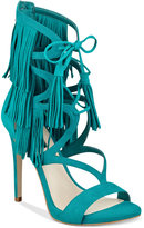 GUESS Women's Abria Fringe Embellished Sandals