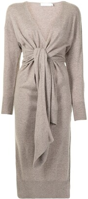 Jonathan Simkhai Skyla faux-wrap knitted dress