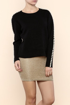 Endless Rose Pearl Black Sweater