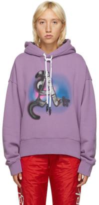 Palm Angels Purple Air Dye Hoodie