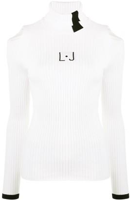 Liu Jo Ribbed-Knit Cut-Out Top
