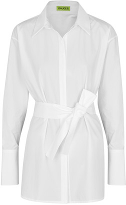 GAUGE81 Casablanca White Cotton Shirt