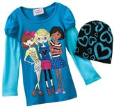 Knitworks mock-layer girls tee - girls 4-6x