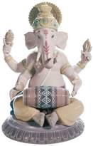 Lladro Mridangam Ganesha Porcelain Figurine