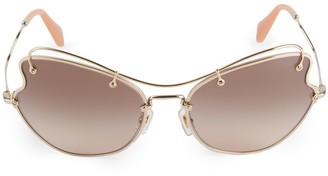 Miu Miu 61MM Aviator Swirl Sunglasses