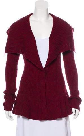 Alexander McQueen Wool Peplum Cardigan