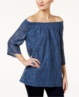 Style&Co. Style & Co. Lace Off-The-Shoulder Top, Only at Macy's