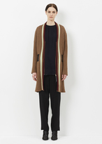 Marni raw sienna knit duster coat