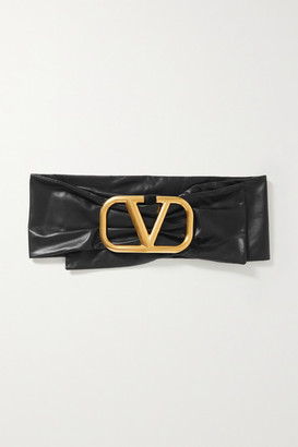 Valentino Garavani Leather Waist Belt - Black
