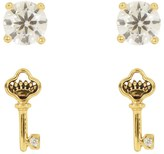 Juicy Couture Key Expressions Stud Earring Set