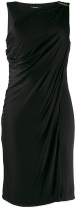 Versace Pre-Owned Buckle Detail Draped Dress
