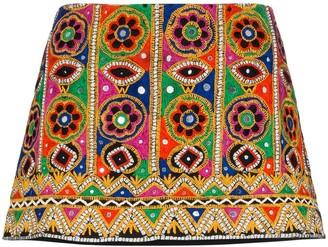 Ashish Mirror-Embroidered Mini Skirt