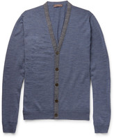 Etro - Contrast-trimmed Wool Cardigan