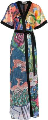 Mary Katrantzou Natalia floral sequin embellished crepe dress
