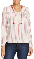 Scotch & Soda Textured Stripe Peasant Blouse